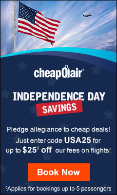 Cheapoair Independence Day deals