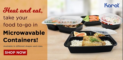 Rectangular Microwavable Container with lids